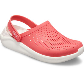 Crocs LiteRide Clogs, poppy/white